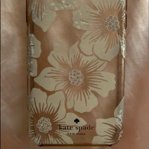 Kate Spade floral and rhinestone iPhone 10 S case